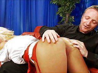 British Blonde Scarlett March Spanked