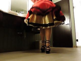 Sissy Ray In Public Washroom