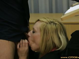 Femdom Humiliating Her Sub By Sucking During