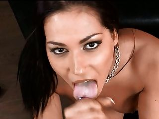 Cum On Tongue
