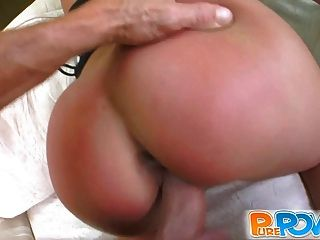 Hot Tanned Hottie Screams Over My Dick In Her