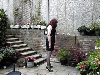 Trannie Friendly Dress - Wanking In The Garden