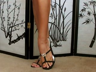 Babe Shows Her Shoe Collection... Super Sexy Feet !!!