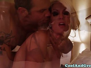 Blonde Bigtitted Glamour Milf In Lingerie Doggystyle Banged