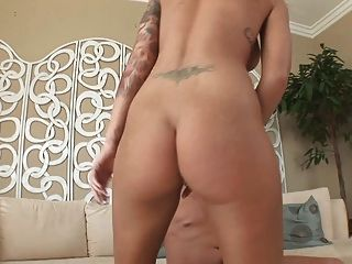 Busty Tattoed American Blonde Loves To Fuck