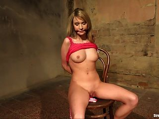 Sixth session thirty strapped to her breasts 1