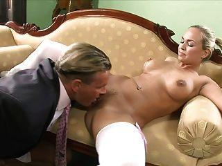 Blonde loving mature dick