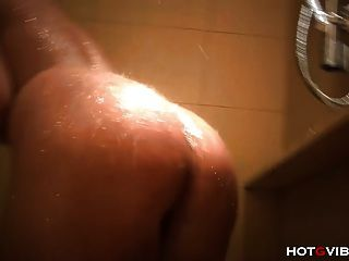 Busty Amateur Moaning Orgasm In Shower