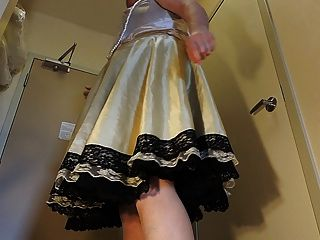 Sissy Ray In Skirt And Petticoat (upskirt Twirling)