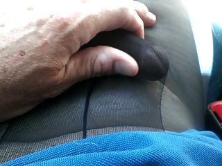 Pumping Cum Thru My Pantyhose