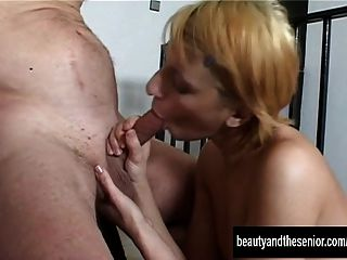 Sexy Blonde Teen Brigitte Gets Fucked By An Old Dude