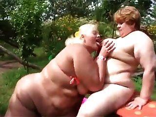 Fat Lesbian Fucks In The Garden