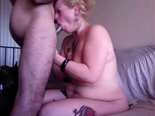 Married Slut Gags On Cock For Christmas
