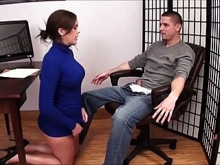 Naughty Boss Footjob Blowjob