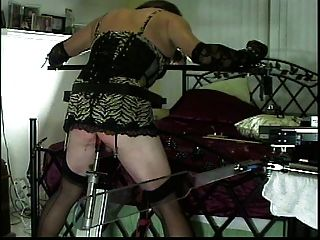 Little Miss Christi Fucked And Spanked By Robotic Machines
