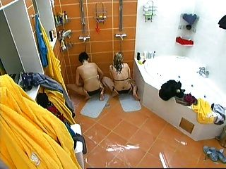 Two Girls Masturbating In Czech Big Brother Under Shower