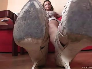 Bbw spike heeled boots shopping - 2 part 1