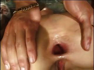 Two Blondes Anal Foursome Side By Side