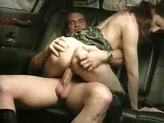 Spank in car with