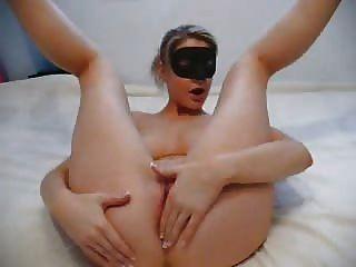 Home Video Masturbation Blonde Blind Folded