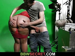 He Cheats With Bbw In The Video Studio