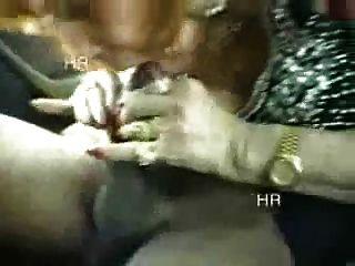 Amateur. Italian Grannny Having Fun With Two Boys In Car