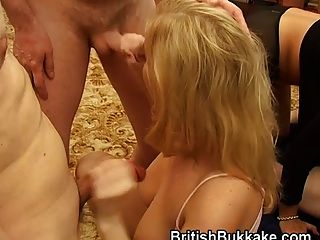Facial Cumshots And Cum Eaters Alicia And Sandie