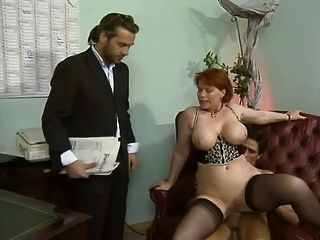 mature office gangbang - Kira Red-threesome In The Office