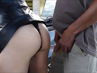 Leather Slut With Rosebud Love Outdoor Sex