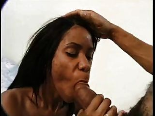 Tall Skinny Hairy Black Chick Gets Fucked Pretty Good.