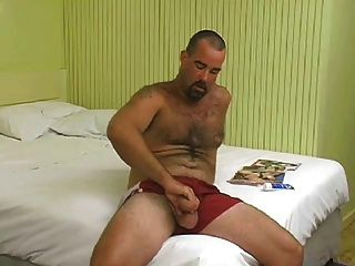 Hairy Aussie Bear Wanks & Sucked Off