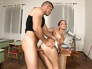 Aliz Teacher Fucked By Man Cleaning Very Hot! A75