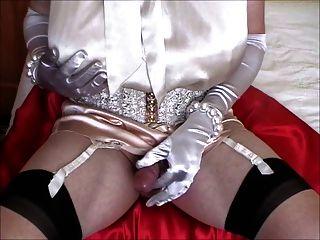 Silk Bow Blouse & Satin Panties