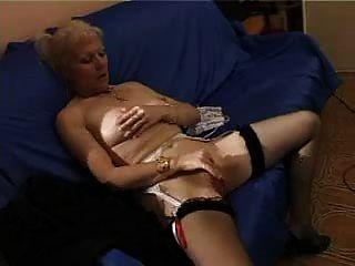 French Shaved Blonde Granny Pt1