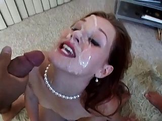 All became cum covered face girl