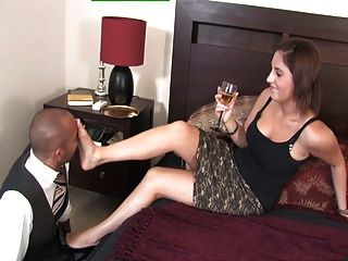 Royalmistress - Mistress Amelia Plays With Her Foot Slave