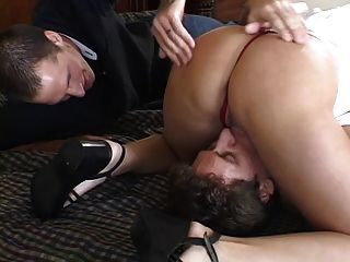 Horny Blonde Babe Takes A Hot Facial After Fucking In Front Of Her Husband
