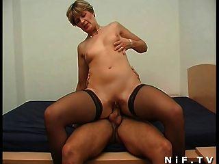 Stockings anal sex milf