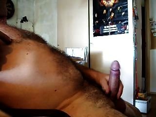 Moaning And Hot Cum, Playing Dick And Balls With Cockring