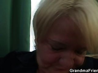 Busty Granny Is Picked Up And Fucked By A Two Horny Guys