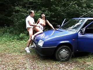 Czech Whore Sex In Car