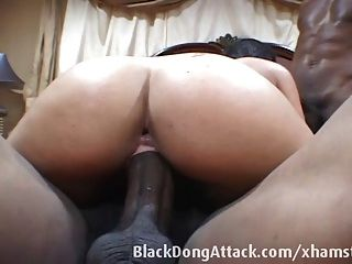 Puerto Rican Slut Takes Two Black Dicks