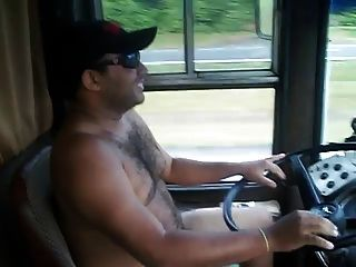 Girl sexy trucker driver