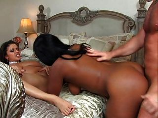 Alexis Silver & Angel Eyes Cum Swapping Whores