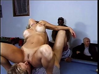 Blonde With Big Tits Gets Her Pussy Licked And Fucked By Guy On Pool Table