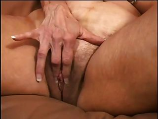 Chubby Blonde Granny Fucked By Young Man