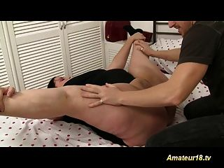 Flexible Fatty Gets Fucked With A Long Cock Hard Deep