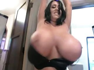 British Leanne Shows Of Her Monster Natural Tits
