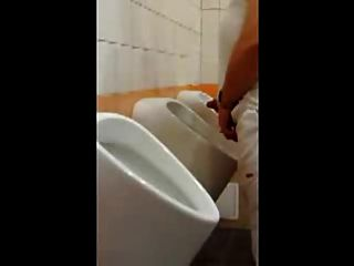 Another Guy Caught Wanking At Urinal