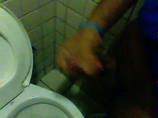 Jacking Off At Public Bathroom